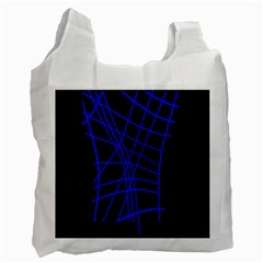 Neon blue abstraction Recycle Bag (Two Side)