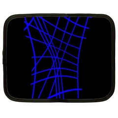 Neon blue abstraction Netbook Case (XL)