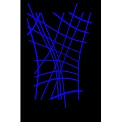 Neon blue abstraction 5.5  x 8.5  Notebooks