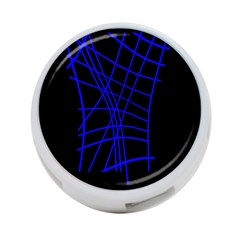 Neon blue abstraction 4-Port USB Hub (Two Sides)
