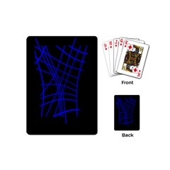 Neon blue abstraction Playing Cards (Mini)