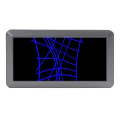 Neon blue abstraction Memory Card Reader (Mini)