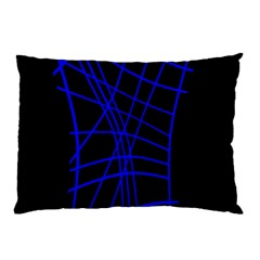 Neon blue abstraction Pillow Case (Two Sides)