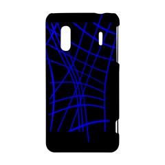 Neon blue abstraction HTC Evo Design 4G/ Hero S Hardshell Case