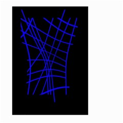 Neon blue abstraction Large Garden Flag (Two Sides)