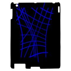 Neon blue abstraction Apple iPad 2 Hardshell Case