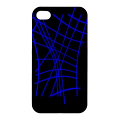 Neon blue abstraction Apple iPhone 4/4S Premium Hardshell Case