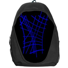 Neon blue abstraction Backpack Bag