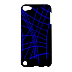 Neon blue abstraction Apple iPod Touch 5 Hardshell Case