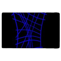 Neon blue abstraction Apple iPad 2 Flip Case