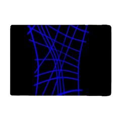 Neon blue abstraction Apple iPad Mini Flip Case