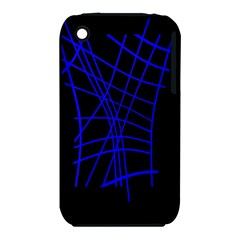 Neon blue abstraction Apple iPhone 3G/3GS Hardshell Case (PC+Silicone)
