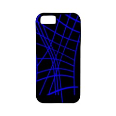 Neon blue abstraction Apple iPhone 5 Classic Hardshell Case (PC+Silicone)