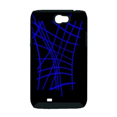 Neon blue abstraction Samsung Galaxy Note 2 Hardshell Case (PC+Silicone)