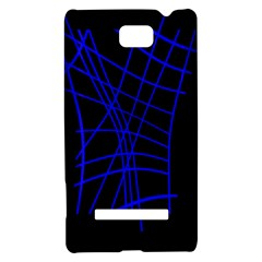Neon blue abstraction HTC 8S Hardshell Case