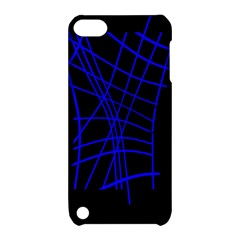 Neon blue abstraction Apple iPod Touch 5 Hardshell Case with Stand