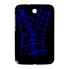Neon blue abstraction Samsung Galaxy Note 8.0 N5100 Hardshell Case