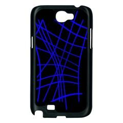 Neon blue abstraction Samsung Galaxy Note 2 Case (Black)