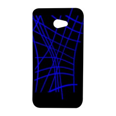 Neon blue abstraction HTC Butterfly S/HTC 9060 Hardshell Case