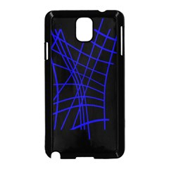 Neon blue abstraction Samsung Galaxy Note 3 Neo Hardshell Case (Black)