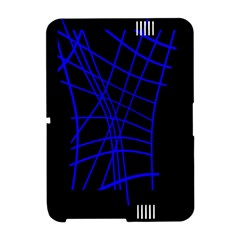 Neon blue abstraction Amazon Kindle Fire (2012) Hardshell Case