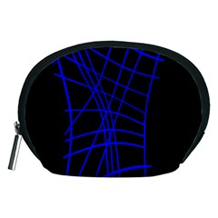 Neon blue abstraction Accessory Pouches (Medium)