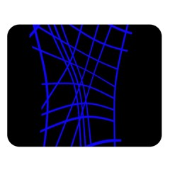 Neon blue abstraction Double Sided Flano Blanket (Large)