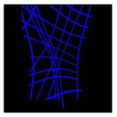 Neon blue abstraction Large Satin Scarf (Square)