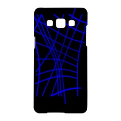 Neon blue abstraction Samsung Galaxy A5 Hardshell Case