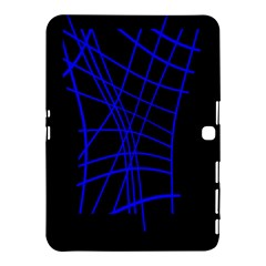 Neon blue abstraction Samsung Galaxy Tab 4 (10.1 ) Hardshell Case