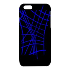 Neon blue abstraction iPhone 6/6S TPU Case
