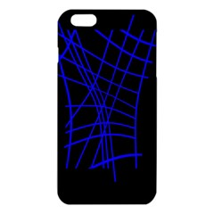 Neon blue abstraction iPhone 6 Plus/6S Plus TPU Case