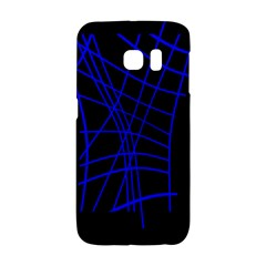 Neon blue abstraction Galaxy S6 Edge