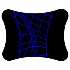 Neon Blue Abstraction Jigsaw Puzzle Photo Stand (bow)