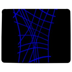 Neon blue abstraction Jigsaw Puzzle Photo Stand (Rectangular)