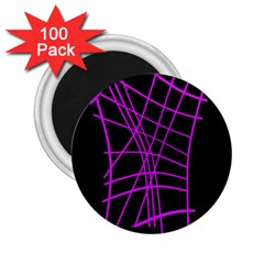 Neon purple abstraction 2.25  Magnets (100 pack)