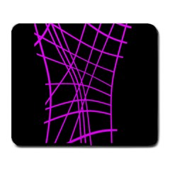 Neon purple abstraction Large Mousepads