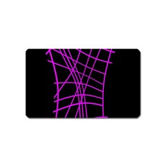 Neon purple abstraction Magnet (Name Card)