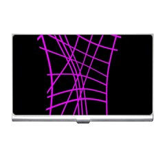 Neon purple abstraction Business Card Holders