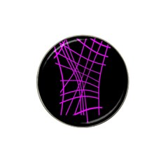 Neon purple abstraction Hat Clip Ball Marker