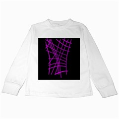 Neon purple abstraction Kids Long Sleeve T-Shirts
