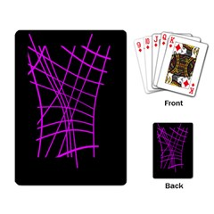 Neon purple abstraction Playing Card