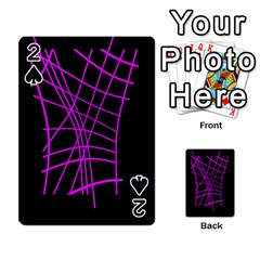 Neon purple abstraction Playing Cards 54 Designs