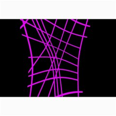 Neon purple abstraction Collage Prints
