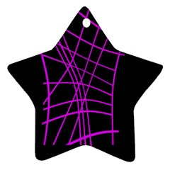 Neon purple abstraction Star Ornament (Two Sides)