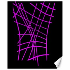Neon purple abstraction Canvas 16  x 20