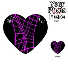 Neon purple abstraction Playing Cards 54 (Heart)
