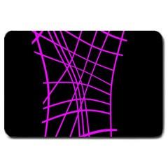 Neon purple abstraction Large Doormat