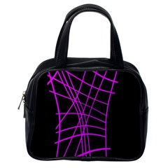 Neon purple abstraction Classic Handbags (One Side)