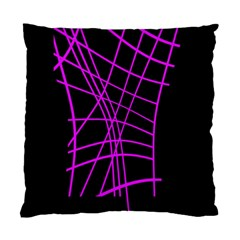 Neon purple abstraction Standard Cushion Case (One Side)